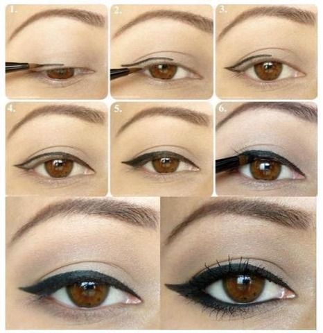 tuto maquillage yeux marron eye liner. Black Bedroom Furniture Sets. Home Design Ideas