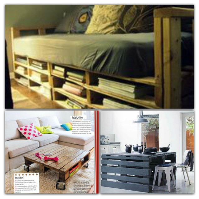 c est fou tout ce qu on peut faire avec une palette two. Black Bedroom Furniture Sets. Home Design Ideas