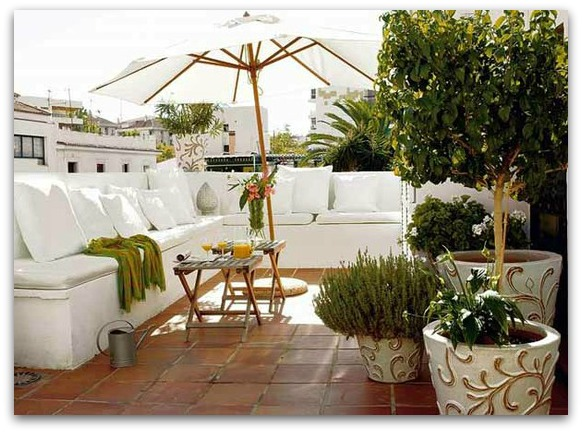 outdoor spaces - outdoor lounge - patio - terrace - rooftop terrace patio design and decor via pinterest