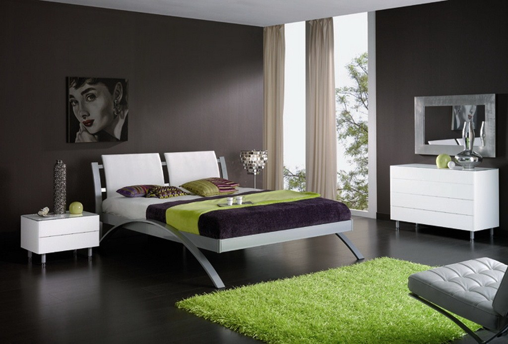 natural-bedrooms-cool-guys-bedroom-designs-combining-green-black-and-white-colors-with-natty-plan