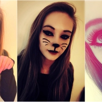 Un joli makeup cat pour Halloween...