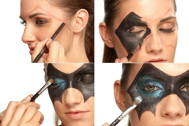 halloween-makeup-ideas-women-black-mask-face-painting
