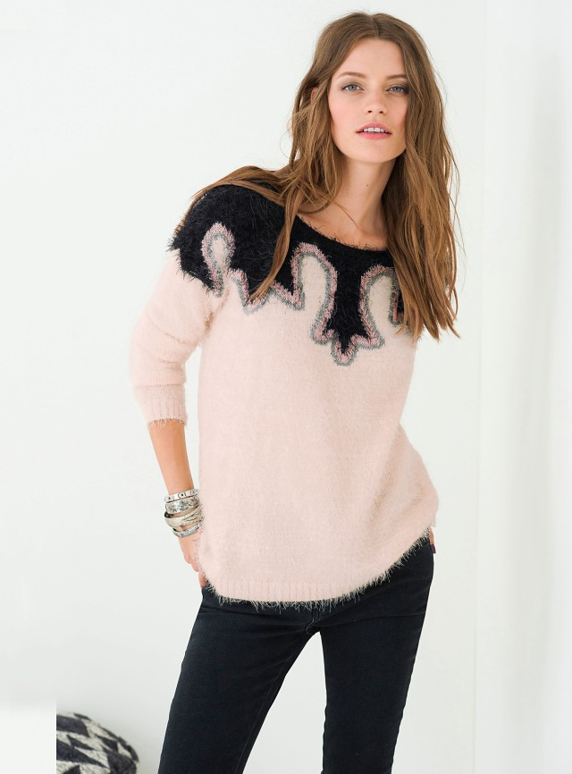 LA-REDOUTE---Soft-Grey-pink-pullover---59.99